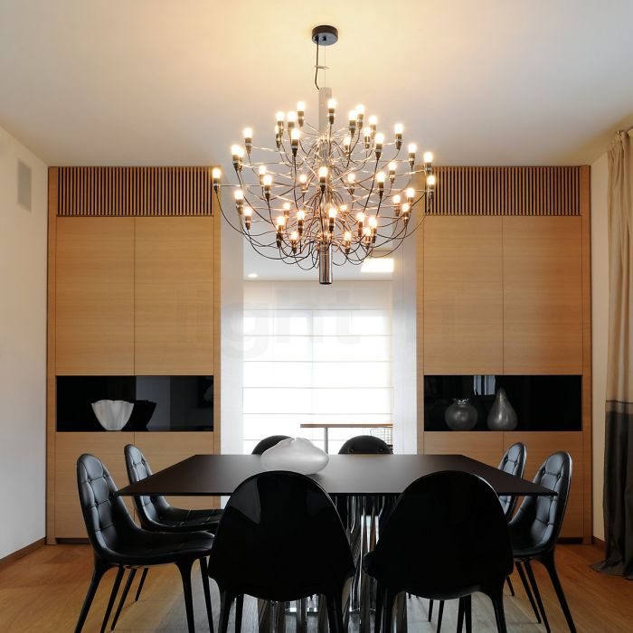Żyrandol designerski Flos Gino Sarfatti na 30 żarówek - złoty