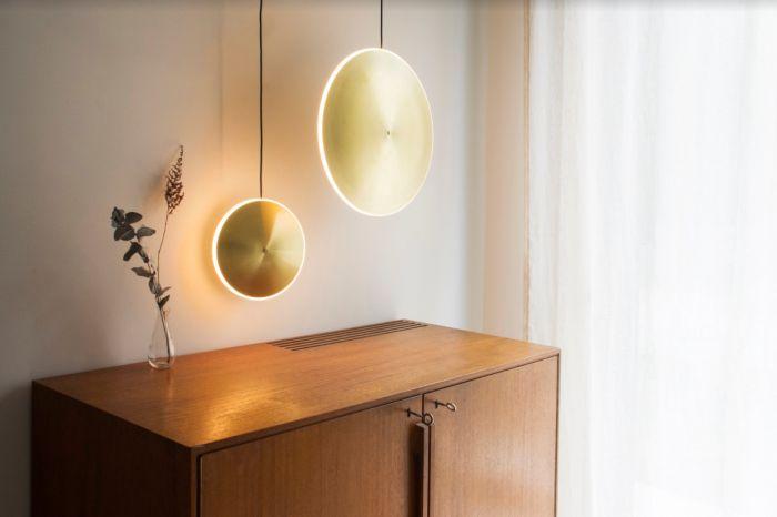 Lampa wisząca Graypants GP-285-a LED Chrona Dish10v brass