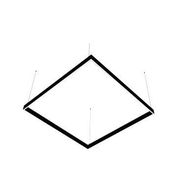 Lampa liniowa LED Abigali Square System duble side kwadrat 120x120 cm