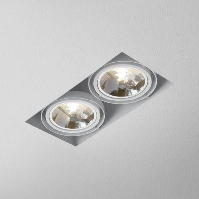 Lampa AQForm Squares 111 x 2 Trimless Wpuszczany Biały Mat