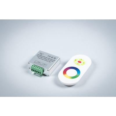 Dotykowy sterownik radiowy RGB biały <216W 18A 12V Greenie