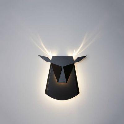 Kinkiet LED Jeleń Abigali Deer Czarny