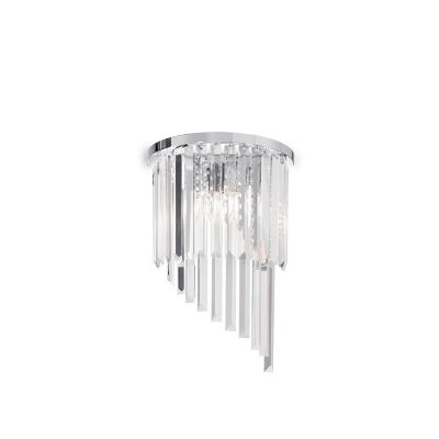 Kinkiet Ideal Lux 168913 Carlton AP3 Cromo