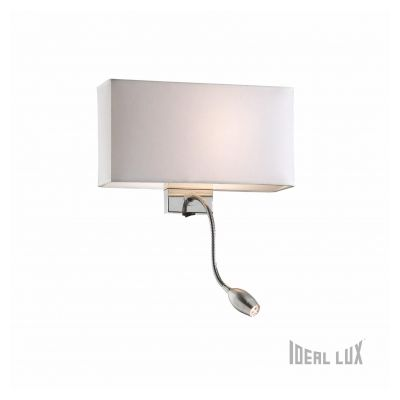 Kinkiet IDEAL LUX HOTEL AP2 BIANCO 035949 White