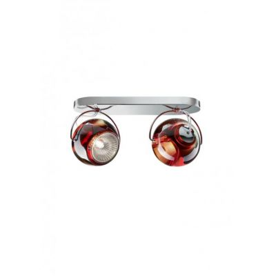 Kinkiet/lampa sufitowa Fabbian D57G2303 Beluga Colour 2 Luci Rosso