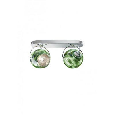 Kinkiet/lampa sufitowa Fabbian D57G2343 Beluga Colour 2 Luci Verde