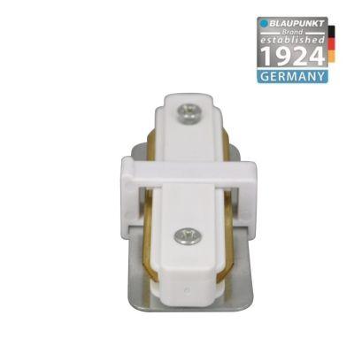 Konektor do szyn 1-fazowych prosty biały Bluapunkt KP1W