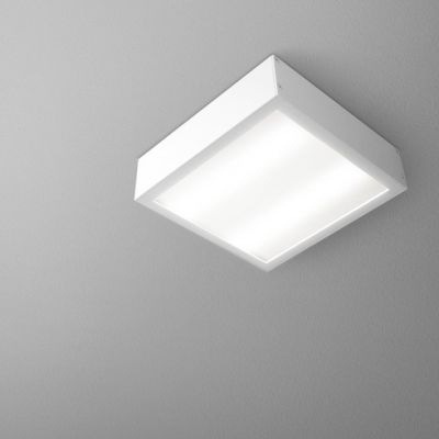 Lampa sufitowa AQForm Slimmer 17 LED Hermetic Surface Biały Struktura