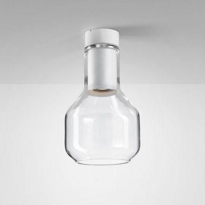 Lampa natynkowa AQForm Modern Glass Barrel GU10 TP Surface Biały Mat