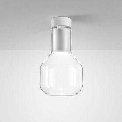 Lampa natynkowa AQForm Modern Glass Barrel LED 230V TP Surface Biały Mat