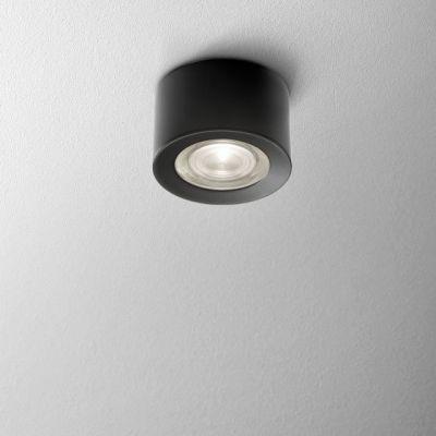 Lampa natynkowa AQForm Only Round Mini LED 230V Hermetic Surface Czarny Struktura