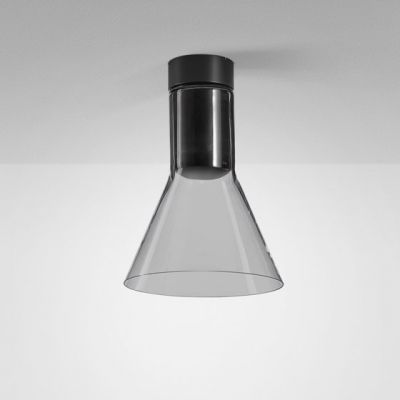 Lampa natynkowa AQForm Modern Glass Flared E27 SP Surface Czarny Mat