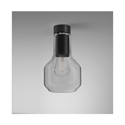 Lampa natynkowa AQForm Modern Glass Barrel E27 SP Surface Czarny Mat