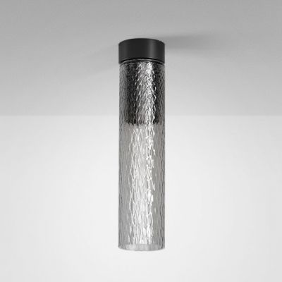 Lampa natynkowa AQForm Modern Glass Tube LED 230V SR Surface Czarny Mat
