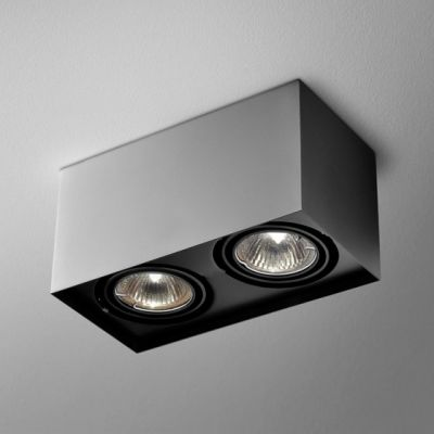 Lampa natynkowa AQForm Squares 50 x 2 230V Surface Czarny Struktura