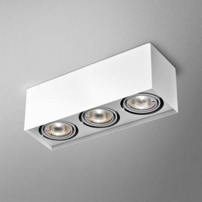 Lampa natynkowa AQForm Squares 50 x 3 230V Surface Biały Struktura