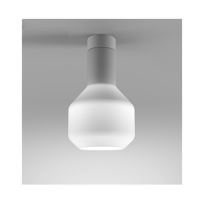 Lampa natynkowa AQForm Modern Glass Barrel LED 230V WP Surface Biały Mat