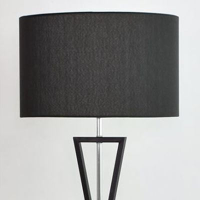 Lampa podłogowa Abigali Sand Glass czarna