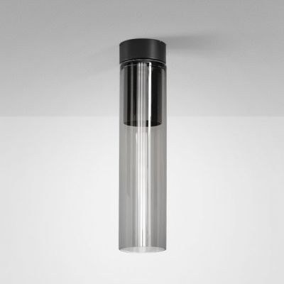 Lampa natynkowa AQForm Modern Glass Tube LED 230V SP Surface Czarny Mat