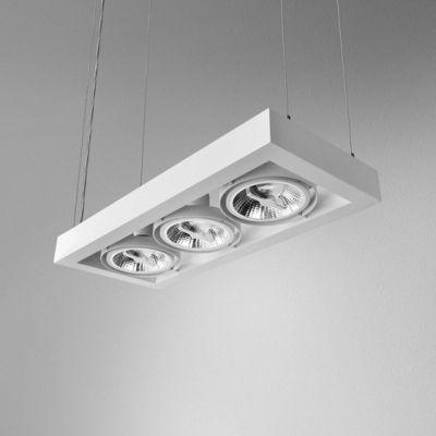 Lampa wisząca AQForm Cadra 111 x 3 Suspended Biały Struktura