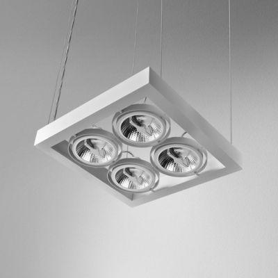 Lampa wisząca AQForm Cadra 111 X 4 SQ Suspended Biały Struktura