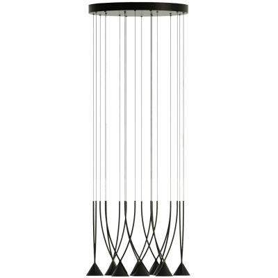 Lampa wisząca Axo Light Jewel 10 Czarna ze ściemniaczem