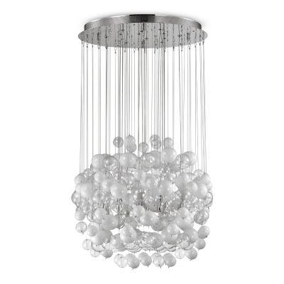 Lampa wisząca Ideal Lux 087924 Bollicine SP14 Bianco