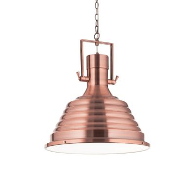 Lampa wisząca Ideal Lux 134871 Fisherman SP1 D48 Rame