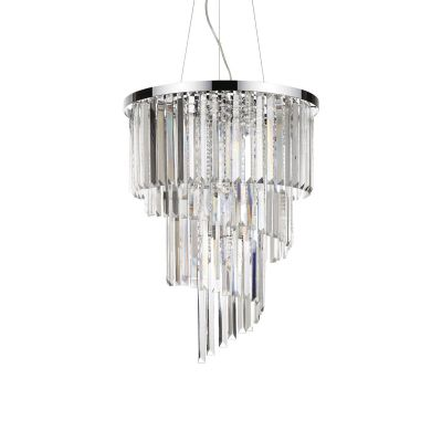 Lampa wisząca Ideal Lux 166247 Carlton SP12 Cromo