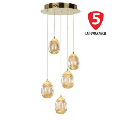 Lampa wisząca Italux PND-22112132-5A-CHPN Huelto LED