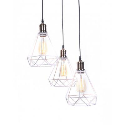 Lampa wisząca Lumina Deco LDP-11609-3-WT Cobi W3