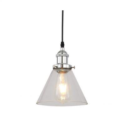 Lampa wisząca Lumina Deco LDP 6801-1 (CHR+PR) Nubi Pro W1