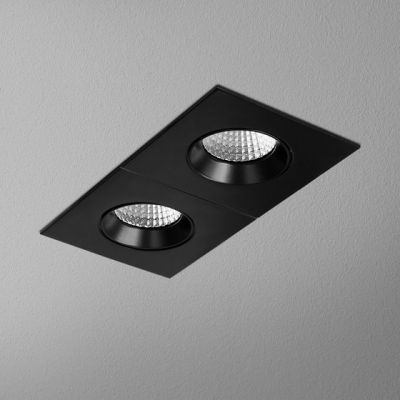 Lampa wpuszczana AQForm Hollow x 2 Square Move LED Recessed Czarny Mat