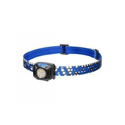 Latarka czołowa Mactronic REBEL Niebieska - trzy barwy świecenia