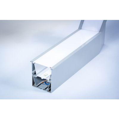 Profil Liniowy LED Greenie Linea wpuszczany - narożnik wertykalny 15° 20W szara obudowa