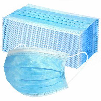 Zestaw 50 szt. - Maski trójwarstwowe ochronne do użytku cywilnego i medycznego z elastycznymi gumkami