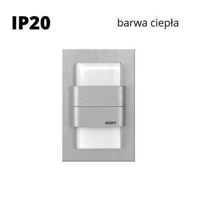 Oprawa schodowa led Skoff Duo Tango Alu Biała ciepła IP20