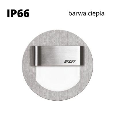 Oprawa schodowa LED Skoff Rueda szlif Biała ciepła IP66