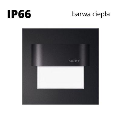Oprawa schodowa led Skoff Tango Czarna Biała ciepła IP66