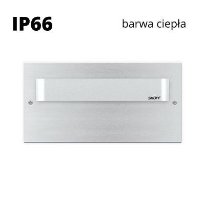 Oprawa schodowa led Skoff Tango Max Short Alu Biała ciepła IP66