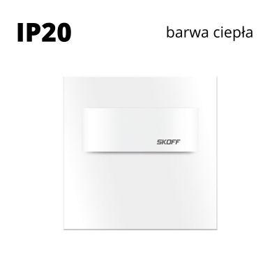 Oprawa schodowa led Skoff Tango Mini Biała Biała ciepła IP20
