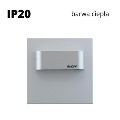 Oprawa schodowa led Skoff Tango Mini Short Stick Alu Biała ciepła IP20