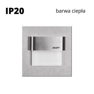 Oprawa schodowa led Skoff Tango Szlif Biała ciepła IP20