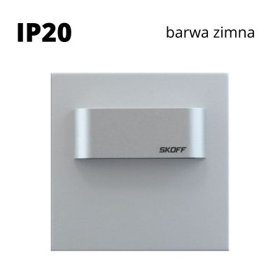 Oprawa schodowa Skoff Tango Mini Short Alu Biała zimna IP20