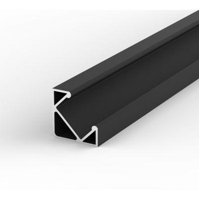 Profil LED Greenie 2m Czarny lakierowany - kątowy