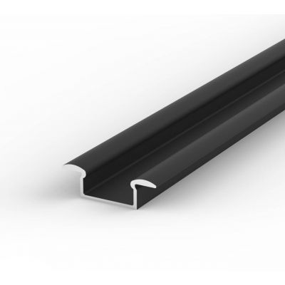 Profil LED Greenie P6-1C2 2 m czarny lakierowany wpuszczany