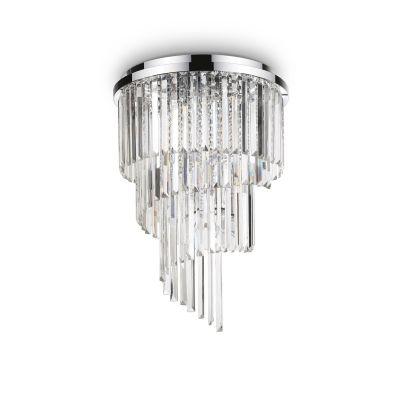 Plafon Ideal Lux 168920 Carlton PL8 Cromo