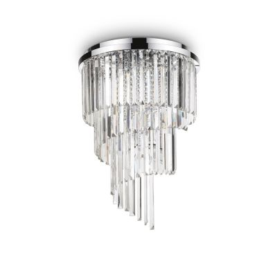 Plafon Ideal Lux 168937 Carlton PL12 Cromo