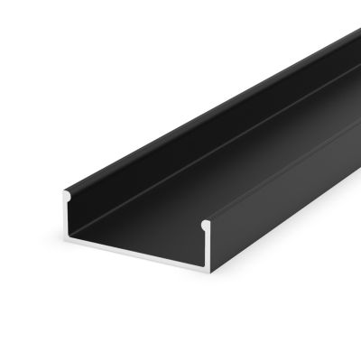 Profil LED Greenie P13-1C2 2m nawierzchniowy czarny lakierowany