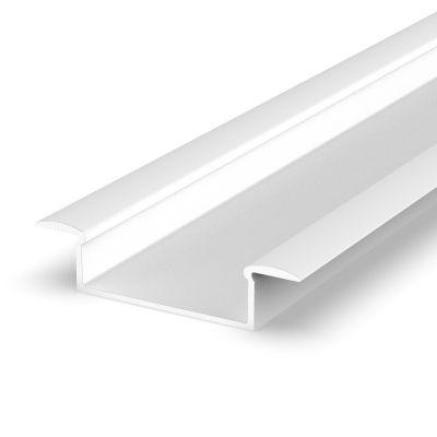 Profil LED Greenie P14-1B 1m wpuszczany szeroki biały lakierowany